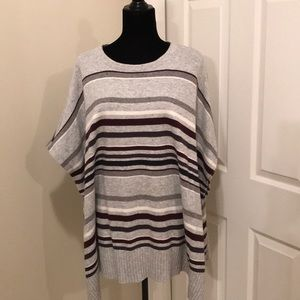 LOFT sweater pullover poncho. Like new!!!
